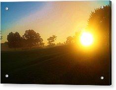Sunrising Over The Club House Acrylic Print by Daniel Thompson