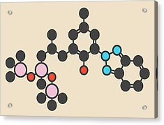 Sunscreen Molecule Acrylic Print by Molekuul
