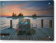 Sunset At Allen's Dock Acrylic Print by Darylann Leonard Photography