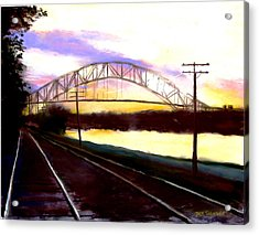 Sunset At Cape Cod Canal Acrylic Print by Jack Skinner