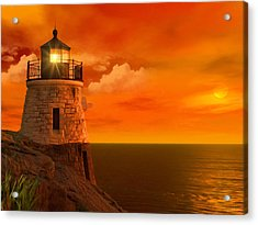 Sunset At Castle Hill Acrylic Print by Lourry Legarde