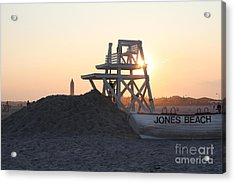 Sunset At Jones Beach Acrylic Print by John Telfer