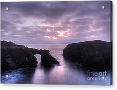 Sunset At Mendocino Acrylic Print by Bob Christopher