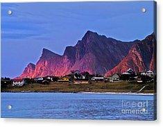 Sunset At Ramberg Acrylic Print by Heiko Koehrer-Wagner