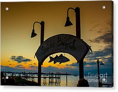 Sunset At Snooks Bayside Acrylic Print by Rene Triay Photography
