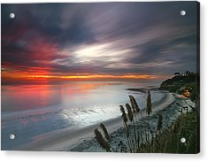 Sunset At Swamis Beach 4 Acrylic Print by Larry Marshall