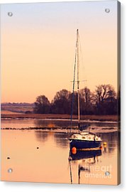 Sunset At The Creek Acrylic Print by Pixel Chimp