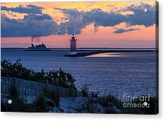 Sunset At The Point Acrylic Print by Robert Pilkington