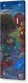 Sunset At The Villa Acrylic Print by Dixie Adams