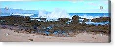 Sunset Beach Crashing Wave - Oahu Hawaii Acrylic Print by Brian Harig