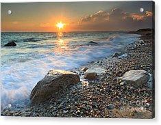 Sunset Beach Seascape Acrylic Print by Katherine Gendreau