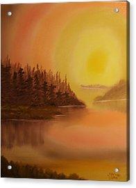 Sunset Brown Island  Acrylic Print by James Waligora