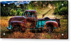 Sunset Chevy Pickup Acrylic Print by Ken Smith