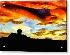 Sunset Colours Acrylic Print by Ayse Deniz