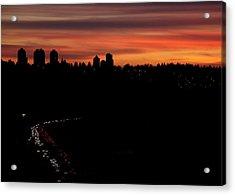 Sunset Commuters Acrylic Print by Lisa Knechtel