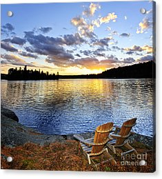 Sunset In Algonquin Park Acrylic Print by Elena Elisseeva