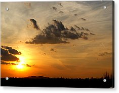 Sunset In Bavarian Forest Acrylic Print by Adam  S