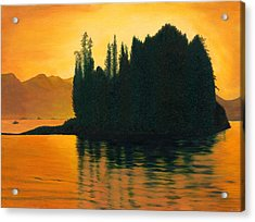Sunset In Juneau Alaska Acrylic Print by Phillip Compton