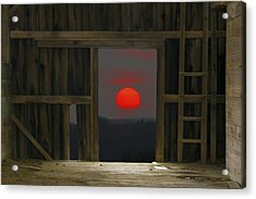 Sunset In Leraysville Acrylic Print by David Simons