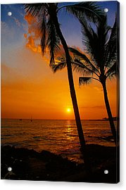 Sunset In Paradise Acrylic Print by Athala Carole Bruckner