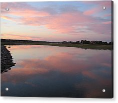 Sunset In Pink And Blue Acrylic Print by Melissa McCrann