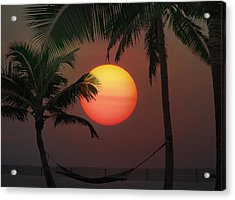 Sunset In The Keys Acrylic Print by Bill Cannon