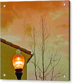 Sunset Lantern Acrylic Print by Ben and Raisa Gertsberg