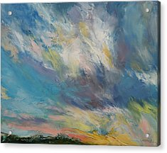Clouds At Sunset Acrylic Print by Michael Creese