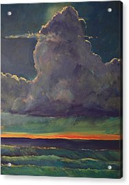 Sunset Moonglow Acrylic Print by Jim Noel