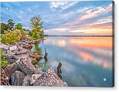 Sunset On Lake Moultrie Acrylic Print by Donnie Smith