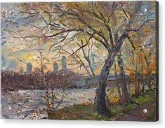 Sunset On Niagara River  Acrylic Print by Ylli Haruni