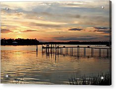 Sunset On Oyster Bay Acrylic Print by Lynn Jordan