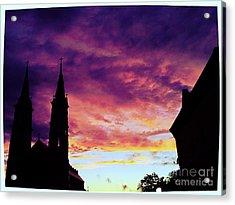 Sunset On The Basilica  Acrylic Print by Garren Zanker