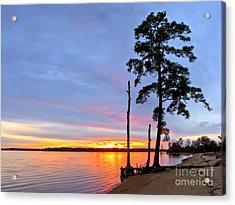Sunset On The James River Acrylic Print by Olivier Le Queinec