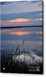 Sunset On The Lake Acrylic Print by Birches Photography