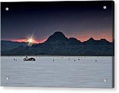Sunset On The Salt Bonneville 2012 Acrylic Print by Holly Martin