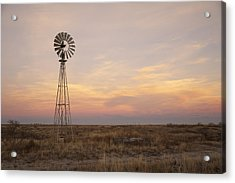 Sunset On The Texas Plains Acrylic Print by Melany Sarafis