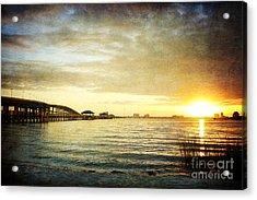 Sunset Over Biloxi Bay Acrylic Print by Joan McCool