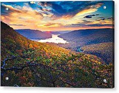 Sunset Over Mullins Cove Acrylic Print by Steven Llorca