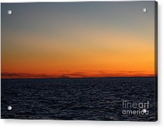 Sunset Over Point Lookout Acrylic Print by John Telfer