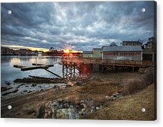 Sunset Over Portsmouth Acrylic Print by Eric Gendron
