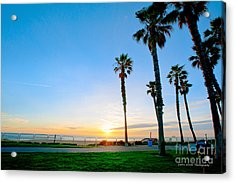 Sunset Over Santa Barbara Acrylic Print by Artist and Photographer Laura Wrede