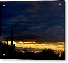 Sunset Over Sonoran Desert Acrylic Print by Jon Van Gilder