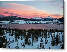Sunset Over The Dillon Reservoir Acrylic Print by Jim West