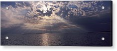 Sunset Over The Sea, Gulf Of Mexico Acrylic Print by Panoramic Images
