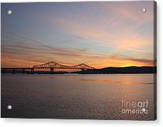 Sunset Over The Tappan Zee Bridge Acrylic Print by John Telfer
