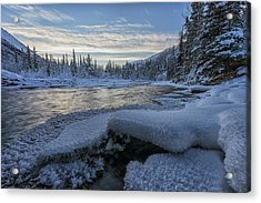 Sunset Over The Wheaton River Acrylic Print by Robert Postma