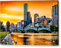 Sunset Over The Yarra Acrylic Print by Az Jackson