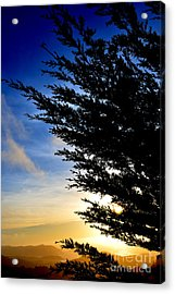 Sunset Overlooking Pacifica Ca Iv Acrylic Print by Jim Fitzpatrick