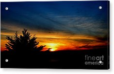 Sunset Overlooking Pacifica Ca  Acrylic Print by Jim Fitzpatrick